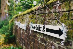 Wedding Sign - Thurning Hall - John Harris Photography